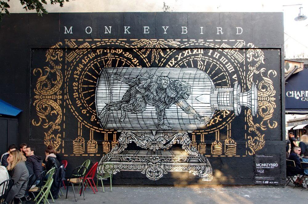 MonkeyBird - collectif street art bordeaux - bordeaux confidentiel